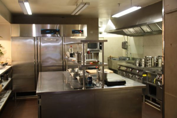 Kitchen at LeFoodist, Paris France