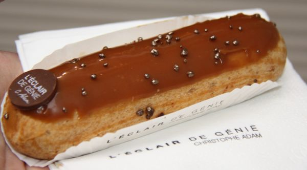 Salted caramel eclair from L'Eclair de Genie.
