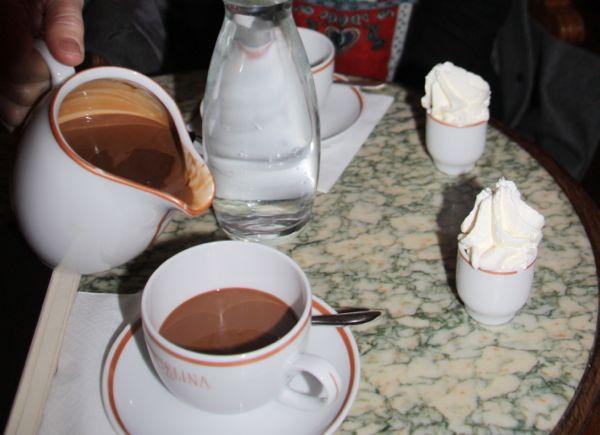 Angelina's Hot Chocolate, Paris.