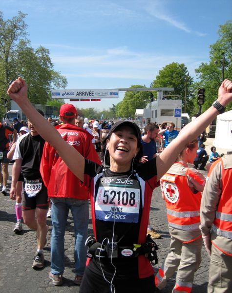 J. Chung at the Paris Marathon