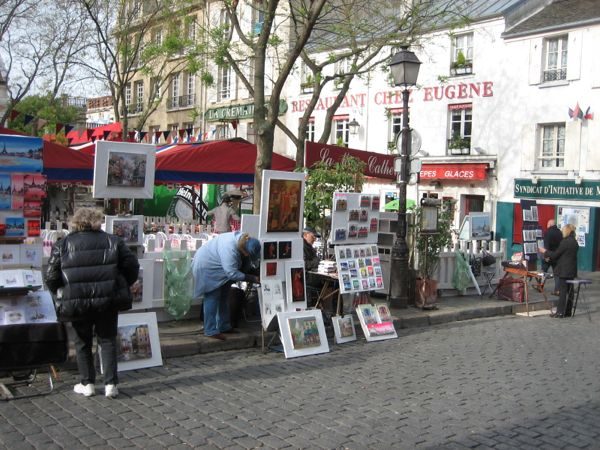 Place des Tertres, Montmartre, Paris France.