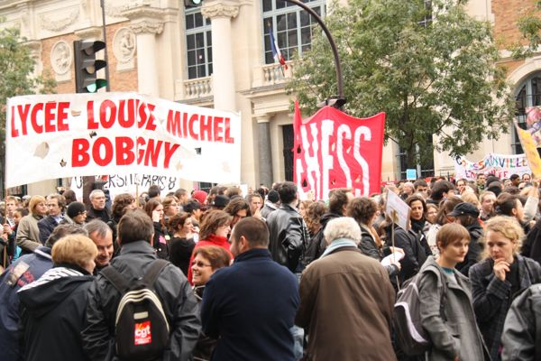 Protesting in Paris, France. Photo: J. Chung