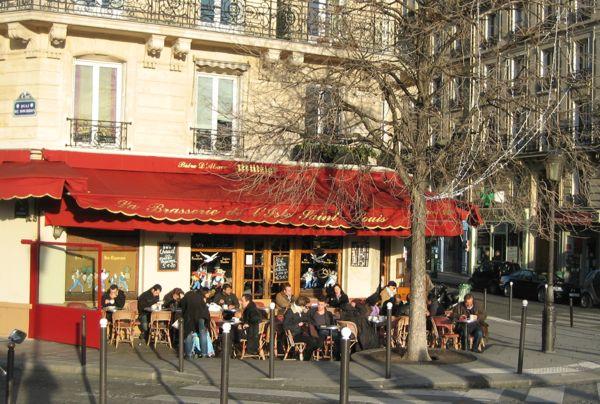 WInter in Paris, France.