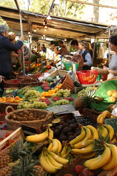 Market in France.
