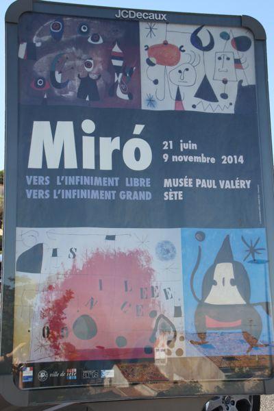 Miro Exhibit Sete, France.