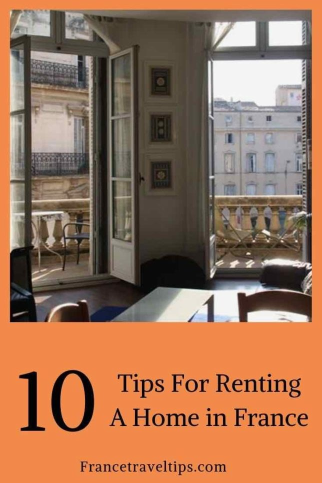 10 tips for renting a home in France (Pinterest)