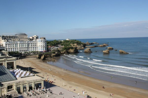 View from Biarritz France apartment.