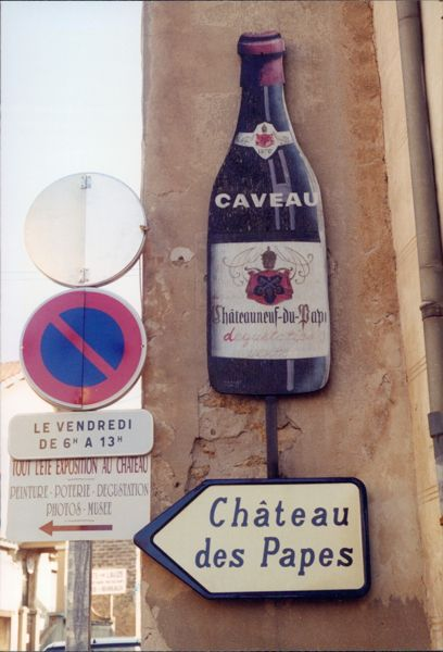Travelling solo in Chateauneuf du Pape, France.