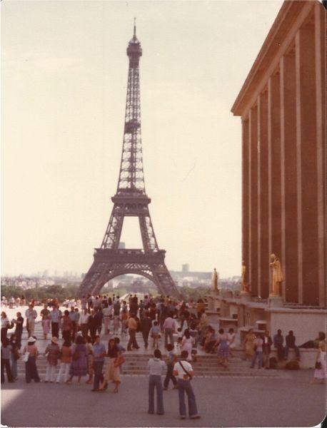 1978 Eiffel Tower, Paris.