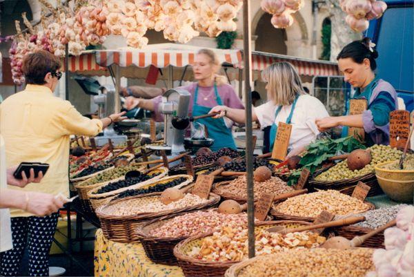 Isle-Sur-La-Sorgue Provence Market France.
