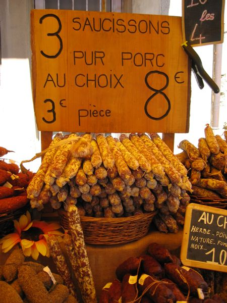 Market in Provence, France.