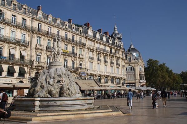 Place de la Comedie, Montpellier, France.