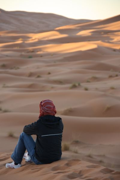 Jan travelling solo in Morocco.