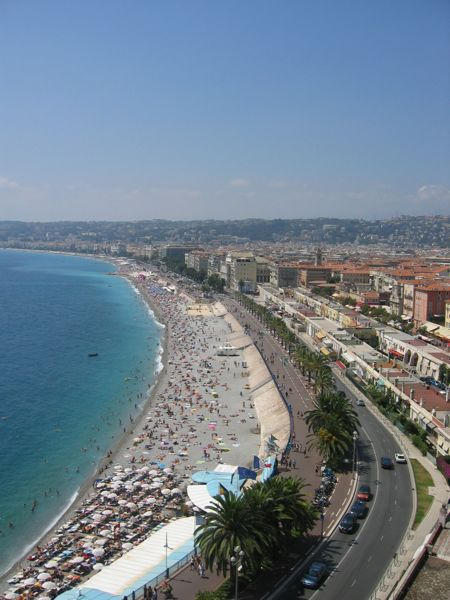 Promenade des Anglais, Nice, France in the Cote d'Azur