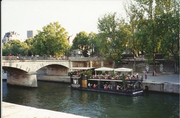 Boat on Seine, Paris France.