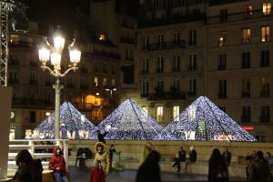 Paris France Winter Decorations