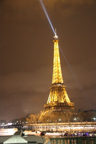 New Year's Eve Eiffel Tower. Paris, France.