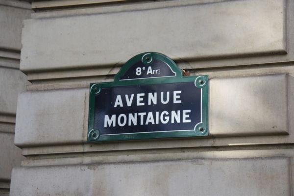 Avenue Montaigne, Paris, France.