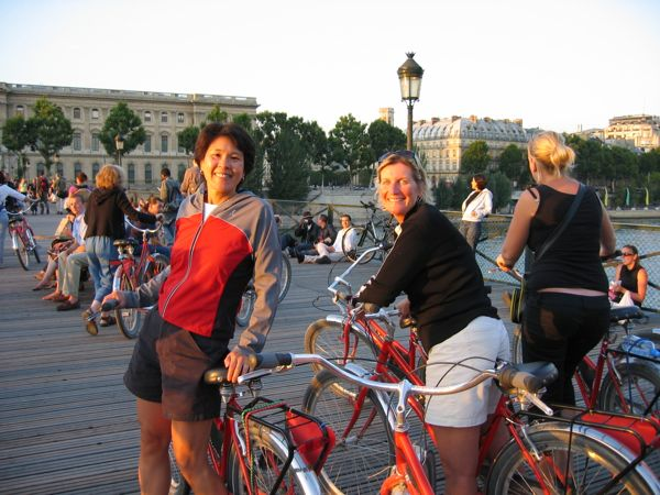 Jan and Laurie on Fat Tire Bike Co Tour, Paris France.