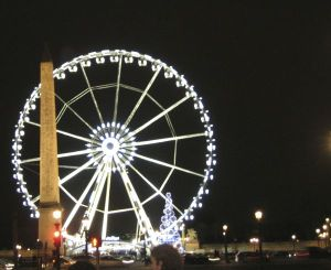 Paris France Ferris Wheel Winter
