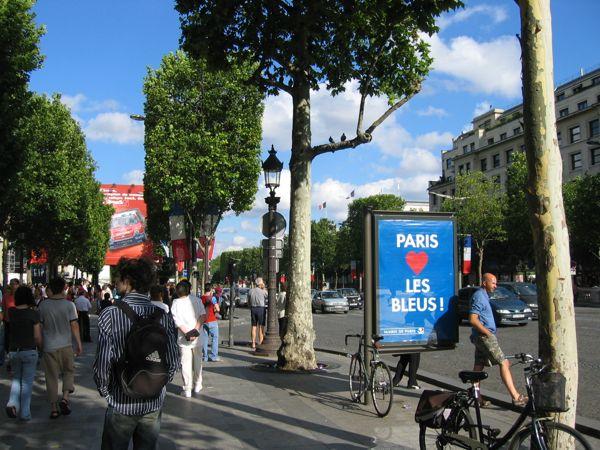 Les Bleus! Paris, France.