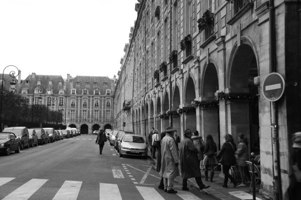 Place des Vosges in the Marais district, Paris France.