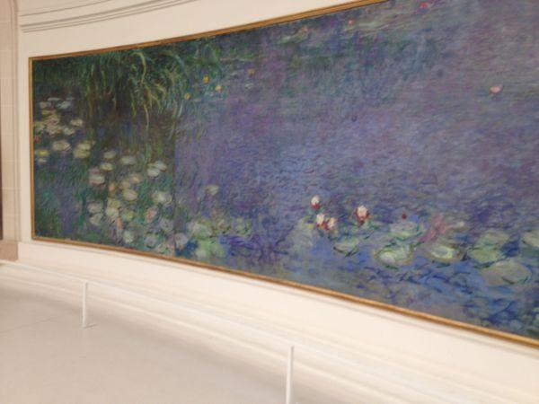 Monet's Water Lillies, Musee L'Orangerie, Paris, France.