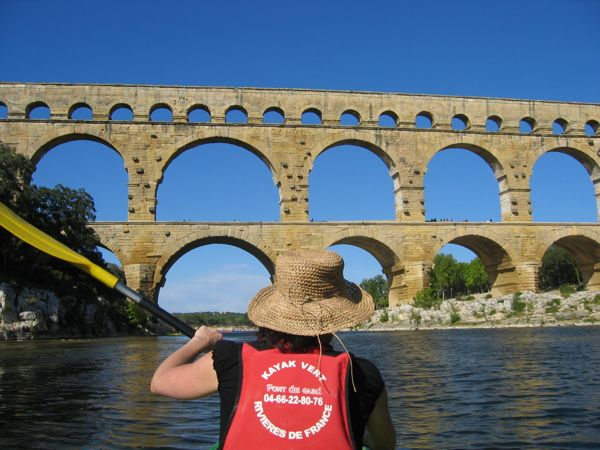 Kayaking On The River Gardon, France.