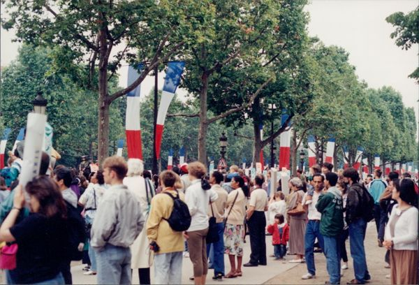 Bastille Day, Paris France. Get there early. Plan in advance