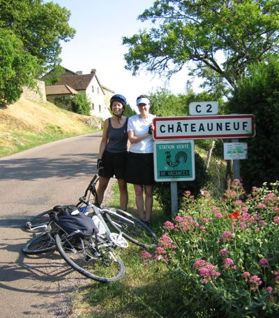 With Judy at Chateauneuf in Burgundy, France.