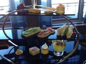 Afternoon tea at Le Chateau Frontenac, Quebec City.