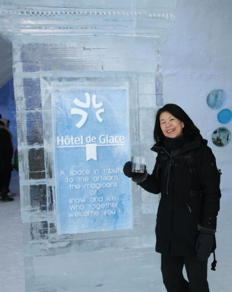 Hotel de Glace, Quebec City.