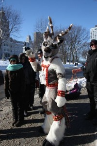 Quebec Winter Carnival Reindeer