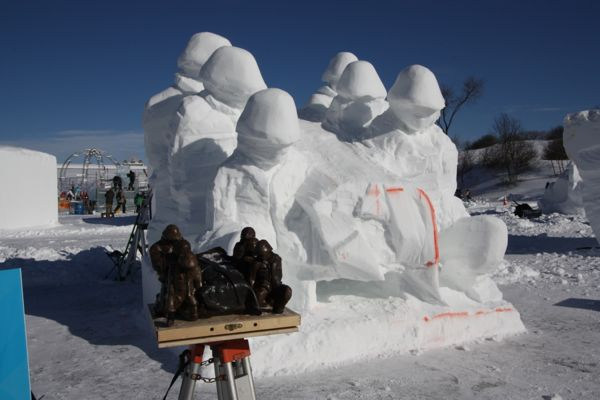 Quebec Winter Carnival Snow Sculpture
