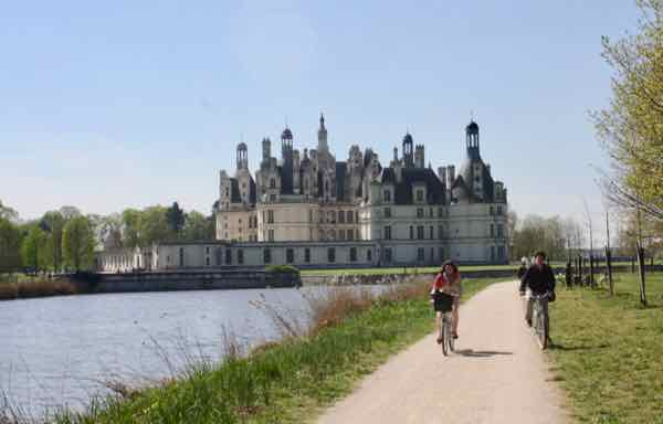 Biking By Chateau de Chambord (J Chung)