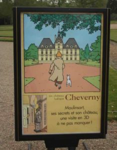 Tintin at Chateau de Cheverny