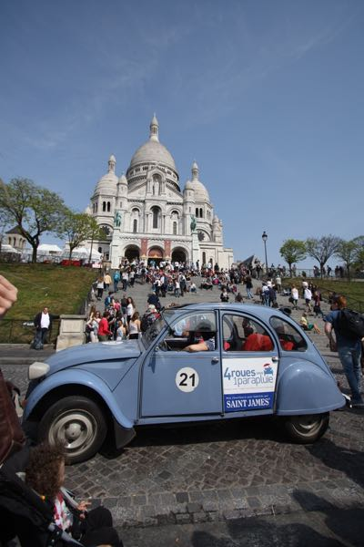 Vintage Citroen at Sacre Coeur