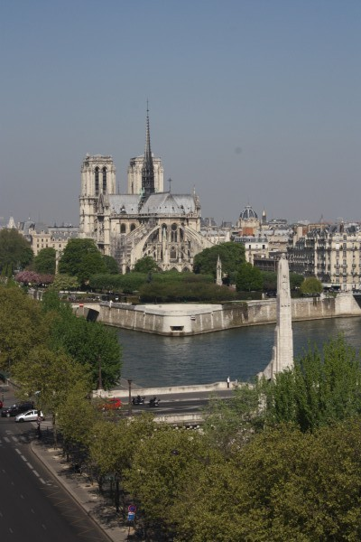 View from Arabe Institute Paris France