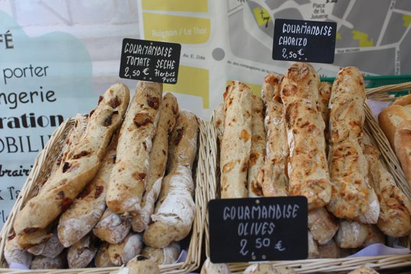 On sale at the L'Isle Sur La Sorgue market in Provence