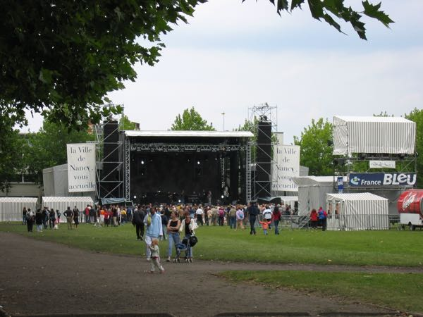 Concert at Parc de la Pepiniere, Nancy France