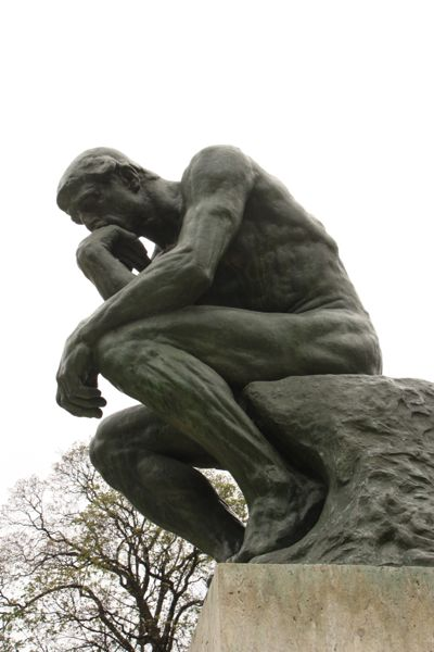 """""""The Thinker"""" by Rodin. Musee de Rodin Paris, France Museum"""