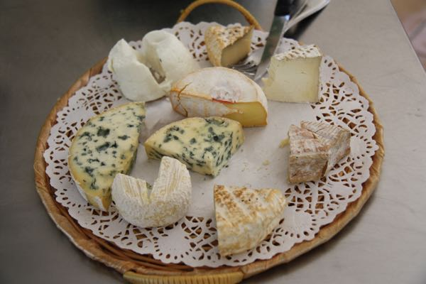 Cheese one night at Ecole des Trois Ponts in Riorges, France.