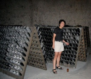 Champagne cellar in Veuve-Clicquot, France