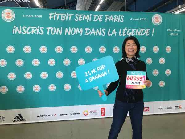 Jan at Semi Marathon de Paris Race Expo