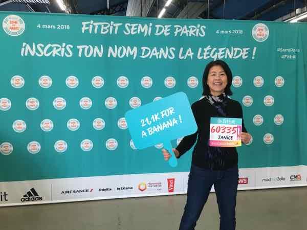 Jan at Semi Marathon de Paris Race Expo
