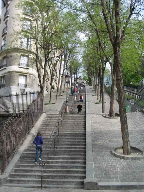 Rue Foyatier in Montmartre Paris France