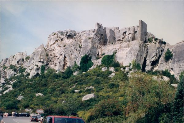 medieval Les Baux in Provence France Chateau