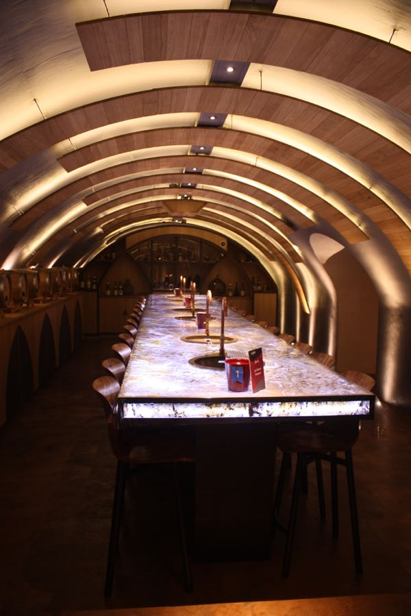 The tasting room at Les Caves du Louvre, Paris Wine Experiences