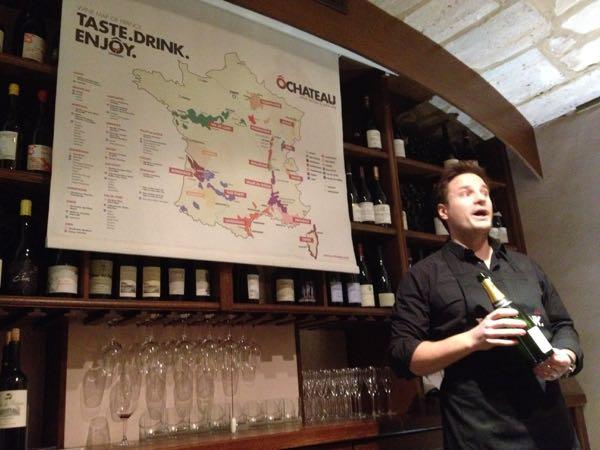 Wine tasting at O Chateau, Paris Wine Experiences