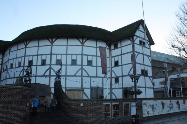 Shakespeare's Globe Theatre Eurostar to Paris